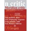 Meridian citic, Seria Filologie, B. Literatura, Tomul XVIII, nr.1, 2011