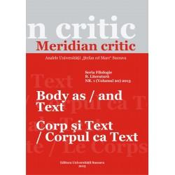 Meridian citic, Seria Filologie, B. Literatura, Tomul XVII, nr.1(20), 2013