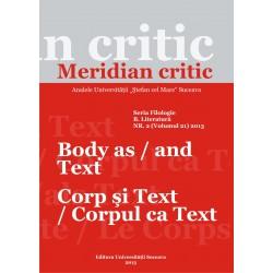 Meridian citic, Seria Filologie, B. Literatura, Tomul XVII, nr.2(21), 2013