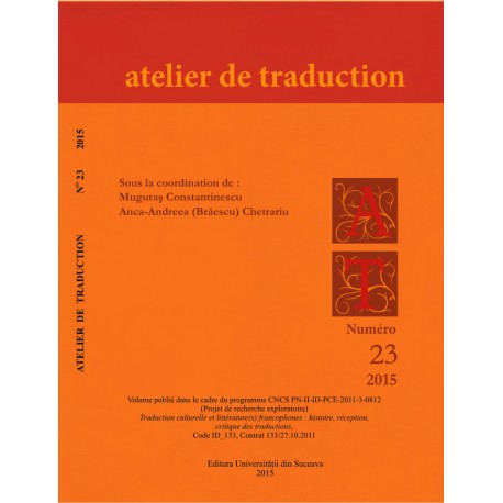 Atelier de Traduction Nr.23 -2015