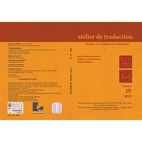 Atelier de Traduction Nr.19 -2014