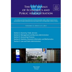 The USV Annals of Economics and Public Administration VOLUME 13, ISSUE 1(17), 2013