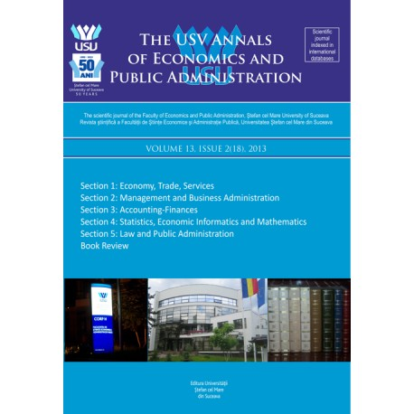 The USV Annals of Economics and Public Administration VOLUME 13, ISSUE 2(18), 2013