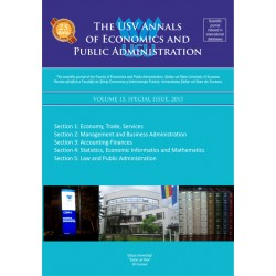 The USV Annals of Economics and Public Administration VOLUME 15, SPECIAL ISSUE 2015