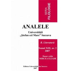 Analele Universitatii Stefan cel Mare, Seria Filologie, B. Literatura, tomul XII, nr. 2, 2007