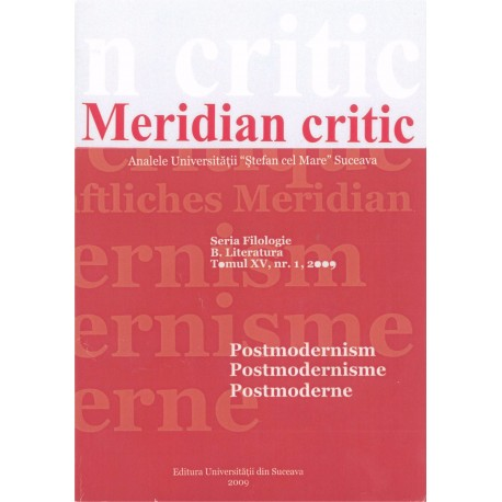 Meridian critic, Tomul XV, nr.1, 2009