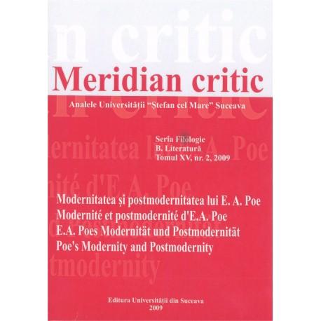 Meridian citic, Seria Filologie, B. Literatura, Tomul XV, nr.2, 2009